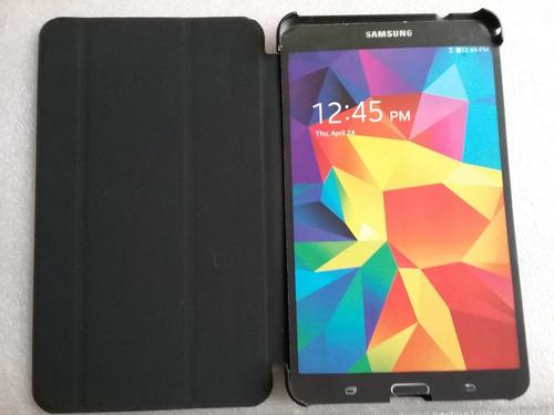 Book Cover Samsung Galaxy Tab 4, 8.0. T330, T331 Negro, Azul