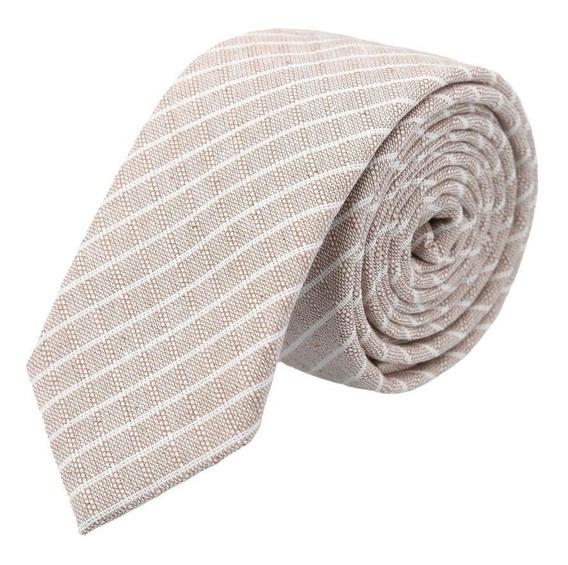Corbata Royal Flush Con Franjas Diagonales Blancas Y Espigas