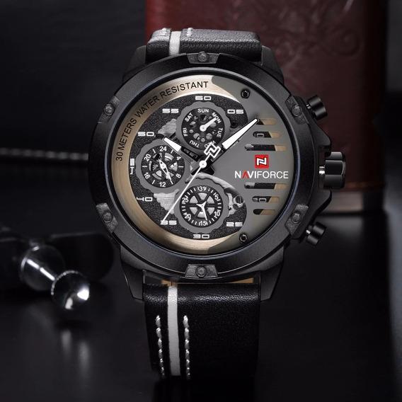 Relógio Esporte Masculino Original Naviforce 9110 Bwb