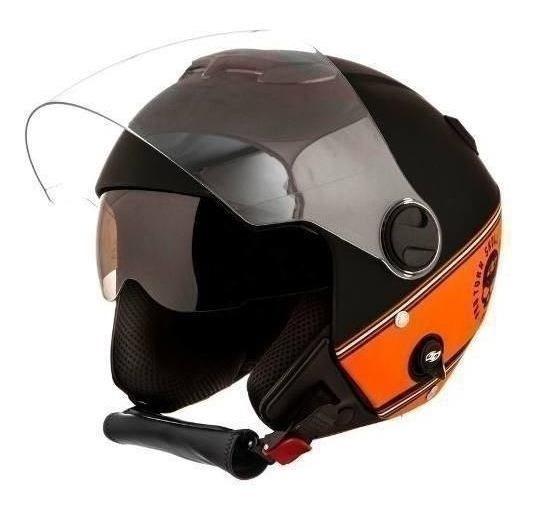 Capacete Moto Preto Lr New Atomic 60 11448