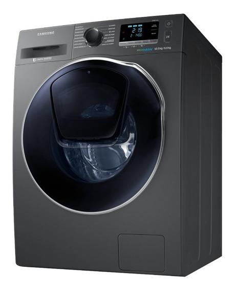 Lavasecarropas Samsung 10,5 Kg Inverter Inox Stienda