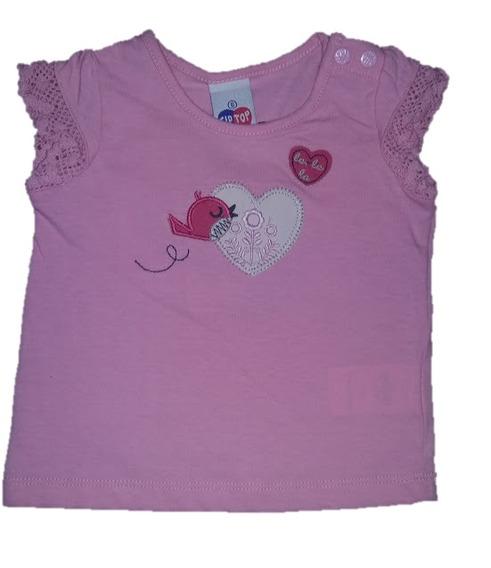 Camiseta De Bebê Tip Top Rosa - Lazer E Estilo
