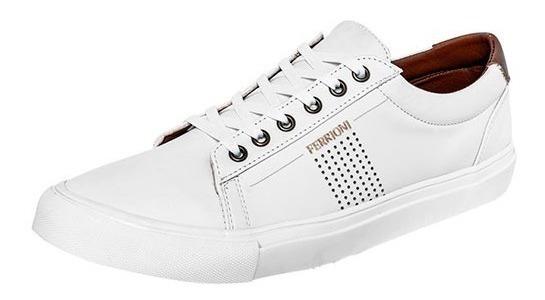 Tenis Ferrioni H21-005 White Tallas Del 26 Al 29 Hombre Ppk