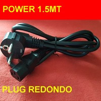 Cable Power 1.5 Plug Redondo Grueso