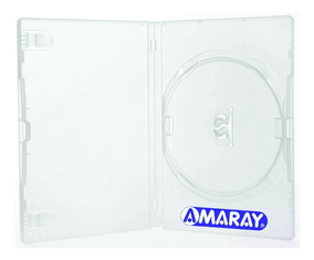 100 Estojo Caixa Capas Box Dvd Amaray Transparente