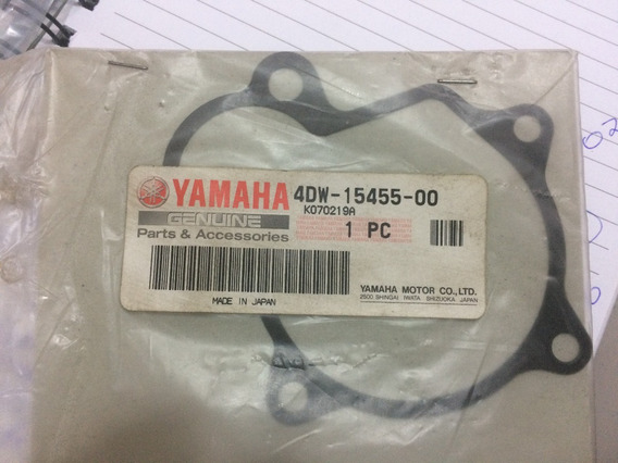 Gaxeta Junta Bomba Oleo Xt600e Orginal Yamaha 4d-15455-00