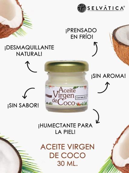 Aceite Virgen De Coco 100% Puro Selvática Frasco 30ml
