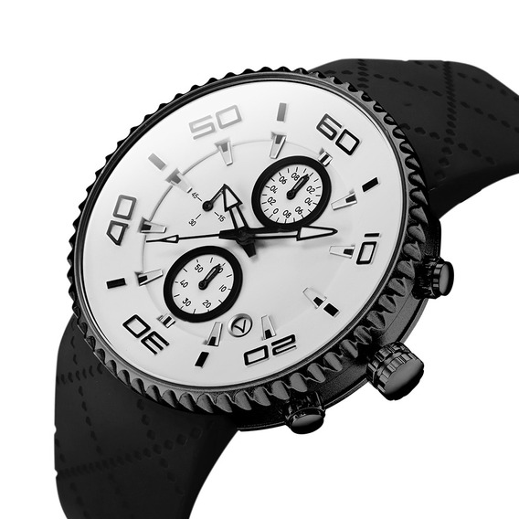 Sinobi 9739 Multifunction Moda Estilo Esporte Relógios Silic