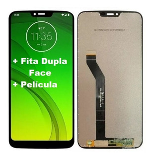 Tela Display Touch Frontal Moto G7 Power Xt1955 1 + Pelicula