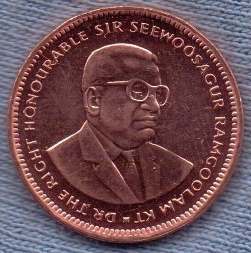 Imagen 1 de 3 de Mauricio 5 Cents 1999 * Sir Seewoosagur Ramgoolam Kt *