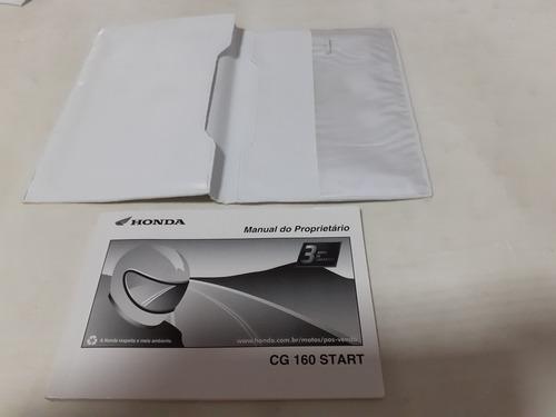 Mg Manual Do Proprietário Honda Cg 160 Start  2018