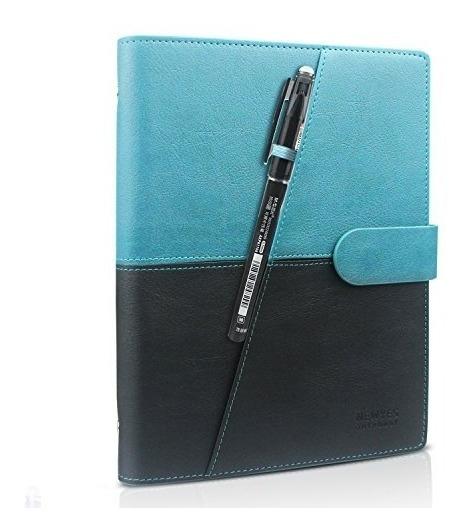Homestec Cuaderno Inteligente Reutilizable Borrable Pu Cuer