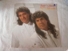 Lp João Mineiro E Marciano 1992 Dois Apaixonados, Encarte
