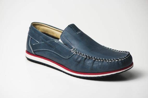 Zapato Cuero Náutico Hombre Mocasín- Renno Calzados- Popeye