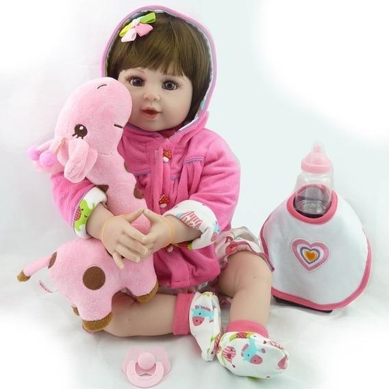 Bebe Reborn Boneca Silicone Baby Menina Realista Lbc Promo