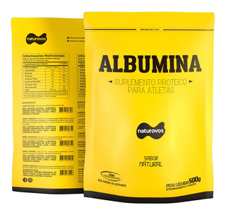 Kit 5 Albumina Natural 500g + 2 Creatina 300g Probiótica -