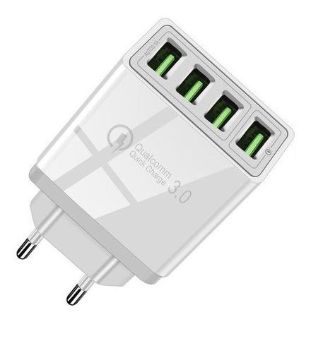 Cargador Múltiple Qualcomm Quick Charge 3.0 48w De 4 Puertos