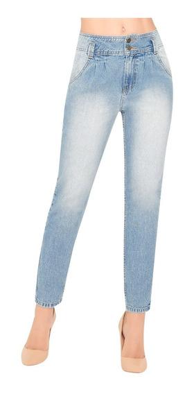 45569 Jeans Pretina Alta P/dama Marca Ilusion Original