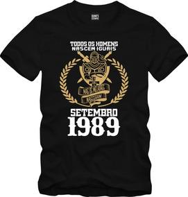 Camisa Os Melhores Homens Nascem Em Setembro 1989 Data 005