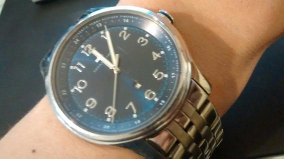 Relógio Tommy Hilfiger Original Masculino Azul Aço Na Caixa