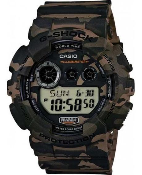 Relógio Casio G-shock Camuflado Gd-120cm-5dr Original
