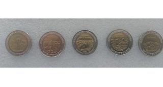 Monedas Argentina 1 Peso Conmemorativas Serie De 5