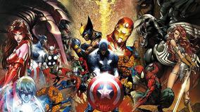 Painel Banner Decoração 3,0 Por 2,0 Super Herois Marvel