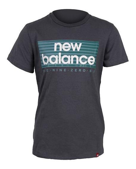 Remera Training ALG Gris Boxer Tee New Balance Niño