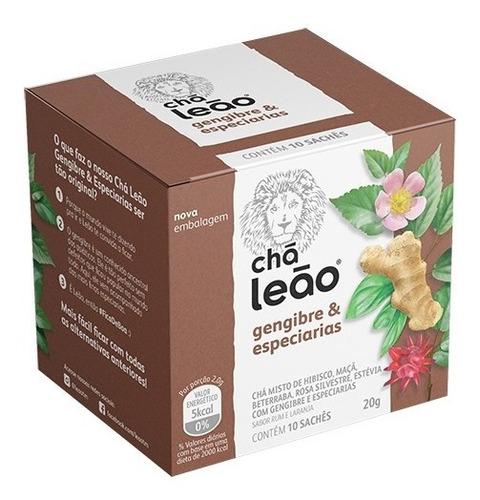 Chá Leão Premium - Gengibre Com Especiarias 10 Saches