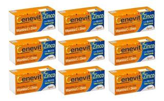 Kit 9 Cenevit Zinco 1g C/10 Comprimidos Efervescentes
