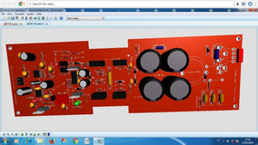 1placa Lisa Para Montar Amplificador Classe D