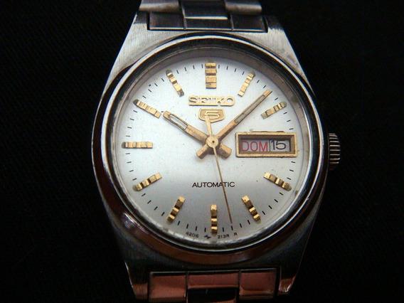 Bonito Reloj Seiko 5 Automático Para Dama Vintage.