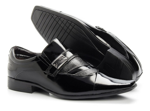 Sapato Social Masculino Couro Envernizado