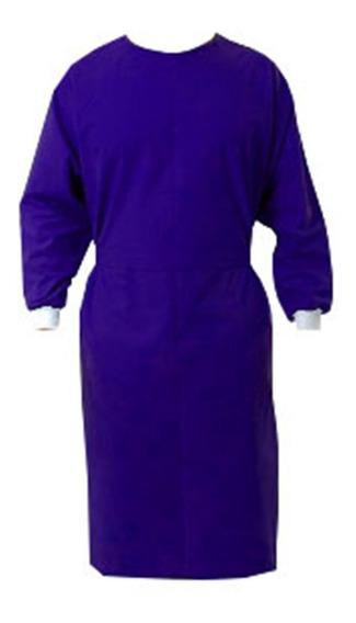 Capote Avental Médico Cirúrgico Unissex Com Punho Kit 05 Un