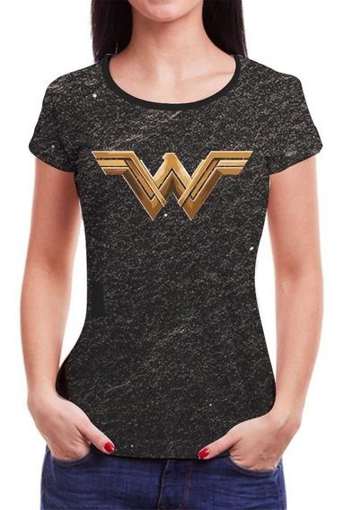 Camiseta Mulher Maravilha Feminina Baby Look Roupas Blusa