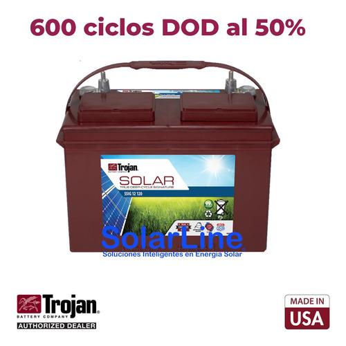 Batería Trojan  12v 105ah Para Paneles Solares Fotovoltaicos