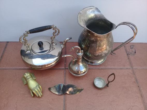 Lote De Antigüedades , Jarra Agua, Pava, Difusor Antigüo