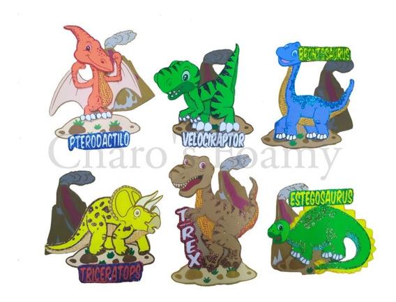 Figura De Foamy Dinosaurios Kit Con 6 Piezas Fomi Goma Eva