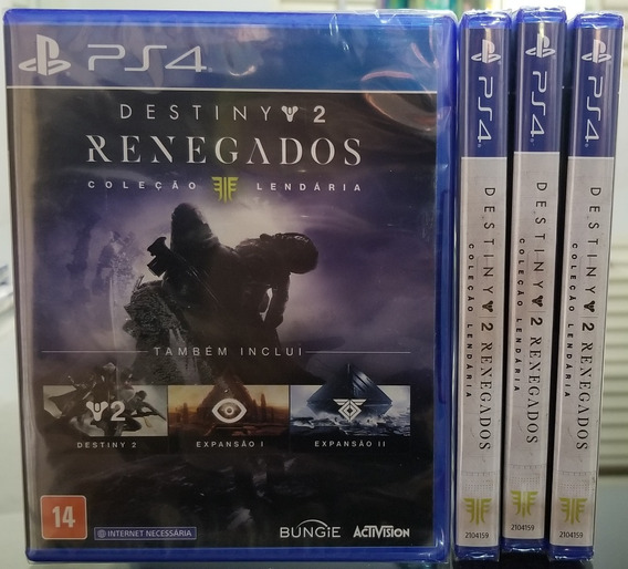Destiny 2: Renegados - Ps4 - Mídia Fìsica