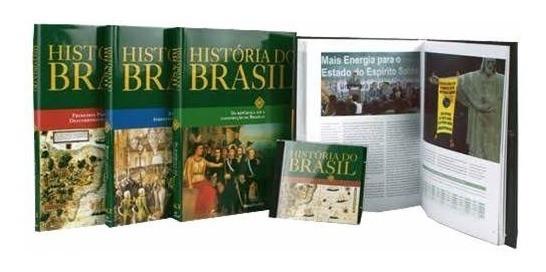 História Do Brasil Barsa - 4 Livros + Cd Interativo- Novo Nf