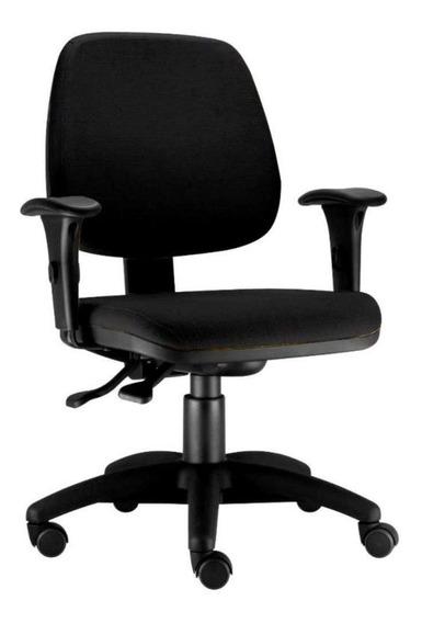 Cadeira Giratória Job Executiva Ergonomica Escritório Preto