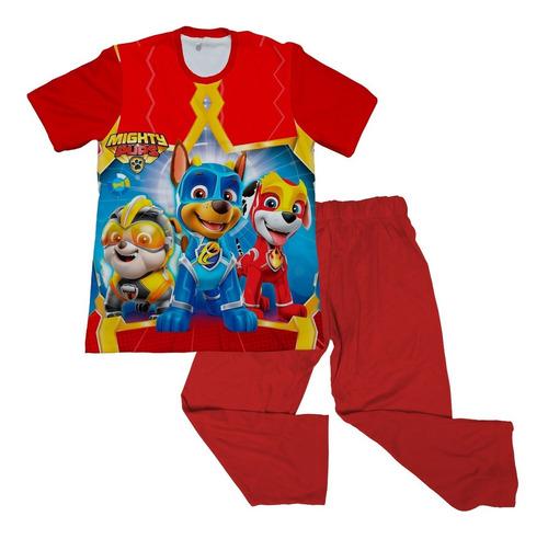 Pijama Niño Personalizada  Paw Patrol Estampada
