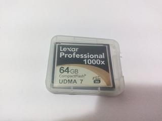 Cartão Memória Lexar Compact Flash Professional 60mb/s 1000x