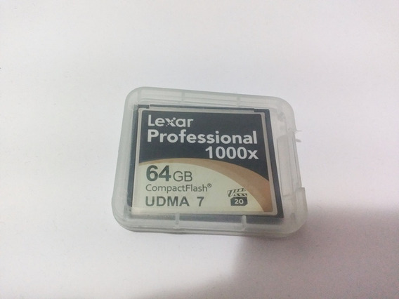 Cartão Memória Lexar Compact Flash Professional 64gb 1000x