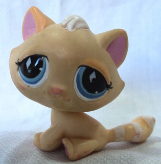 Littlest Pet Shop Original Gatita Ojos Celestes Hasbro