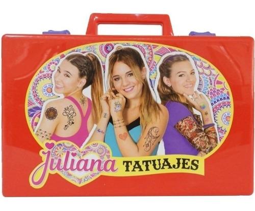 Imagen 1 de 4 de Valija Juliana Tatuajes Tattoo Diseños Juguete Tv Jul036 Edu