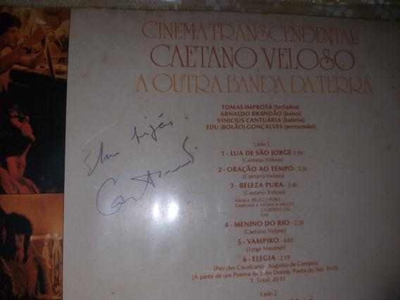 Autografado Caetano Veloso Lp Ano 1979