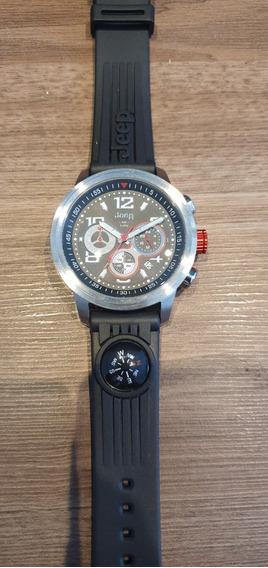 Lindo Relógio Jeep Chronografo Pulseira De Silicone
