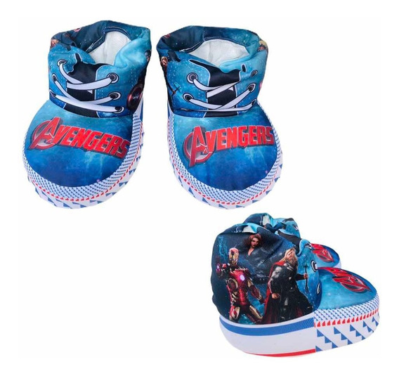 Pantuflas Avengers Capitán América Hulk Thor Nenes Invierno