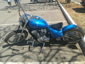 Moto Antiga Old School Azul Honda Shadow 600 2003 - Brindes